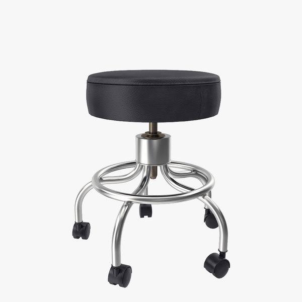 max wheeled stool