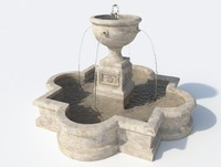 Fountain with water 2