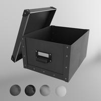 ikea fjalla storage box 3d model
