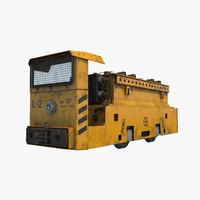 mining loco 3d model