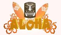 summer logo aloha 3d model