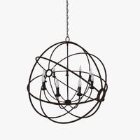 foucault s orb chandelier 3d max