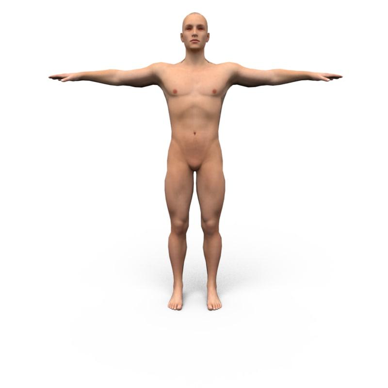 human polygonal obj