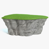 cartoon mountain cliff 3d max