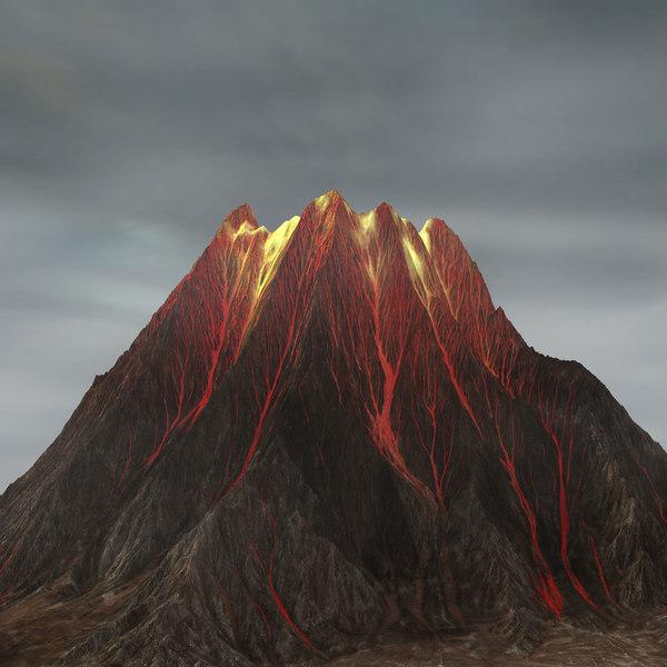volcano mountain landscape max