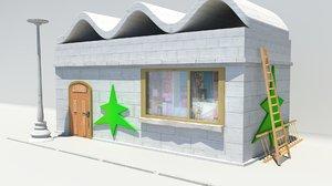 3d model home house building