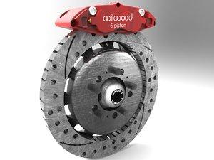 3d wilwood brake kit 140-15305-dr model