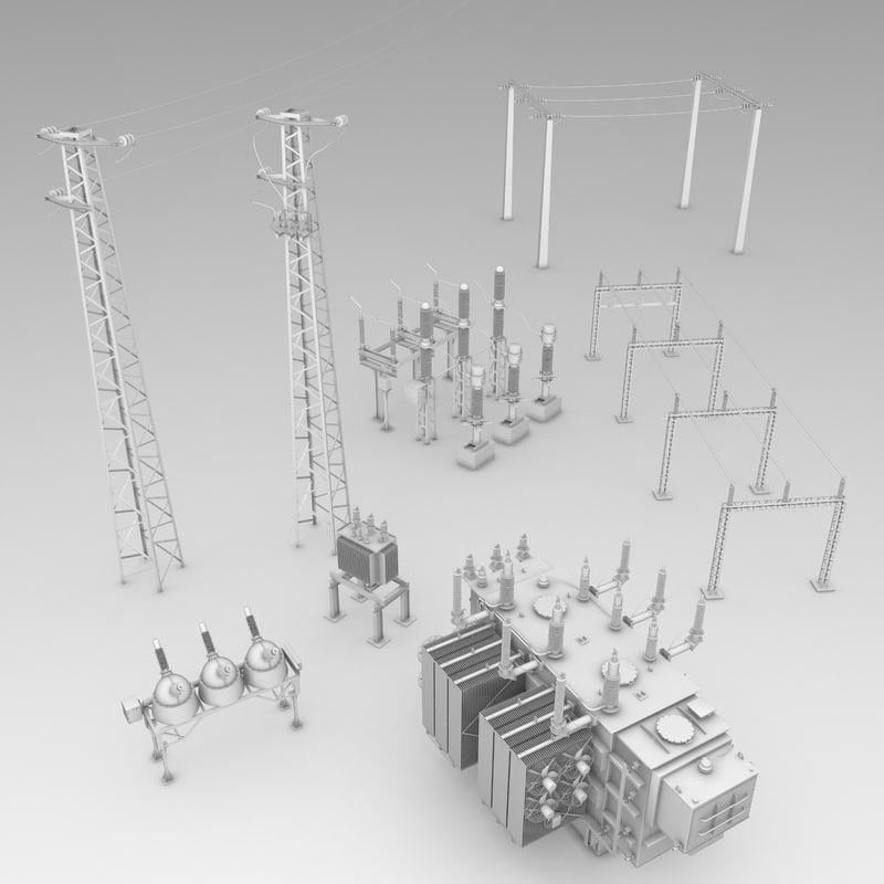 electrical substation 3d max