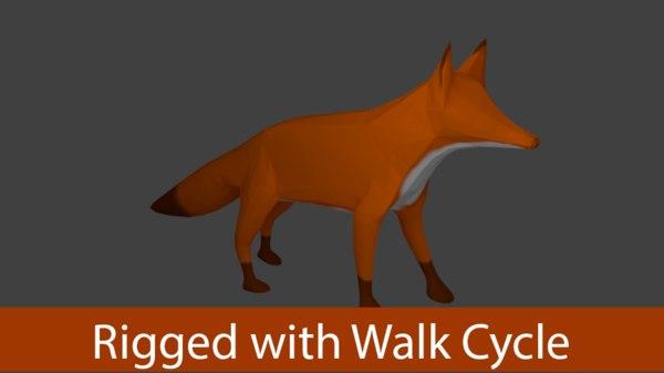 fox blender 3d 3ds