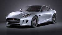 Jaguar F-Type R Coupe 2015 VRAY
