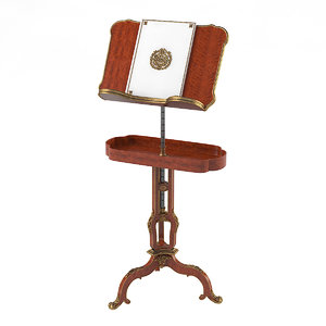 baroque music note stand 3d ma