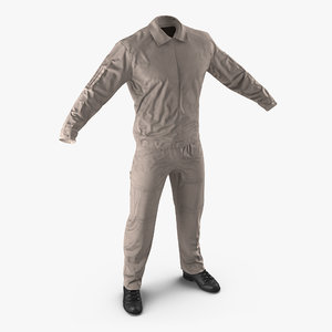 3d pilot flight suit model