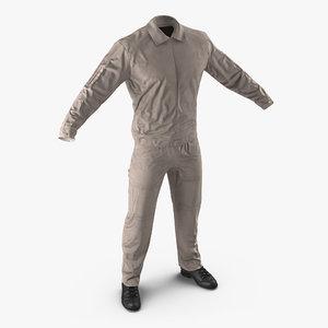 3d pilot flight suit model