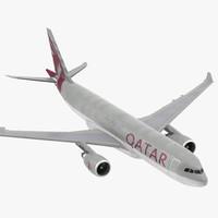3d model airbus a330 p2f qatar