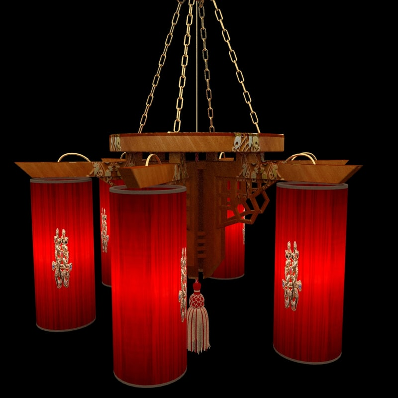 3d max chinese palace lantern
