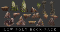 Low_Poly_Rock_Pack