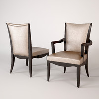 3d baker armchair 3447 chair model