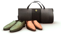 obj leather bag shoes