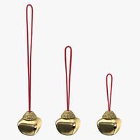 christmas bell 02 3d model