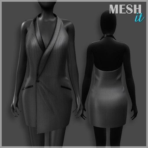dress grey 3d model