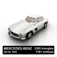 3d 1954 mercedes-benz 300 sl model