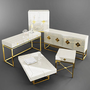 3d model jonathan adler delphine furniture