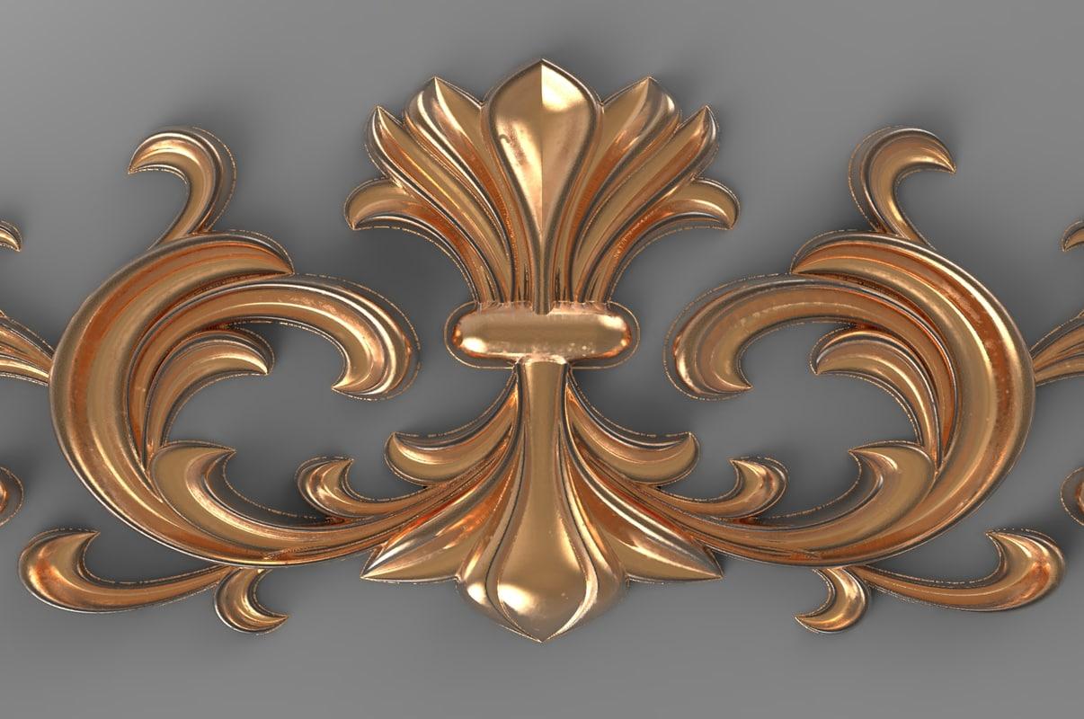 decorative cnc 3d model