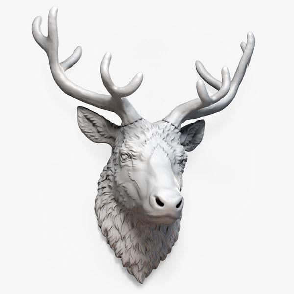 reindeer deer head types 3d model