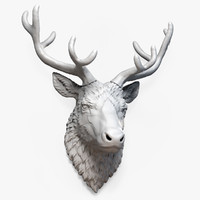 Deer Head (Three types of  antlers)