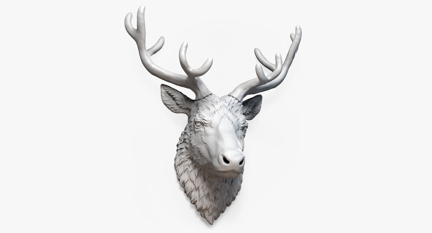 reindeer deer head types 3d model