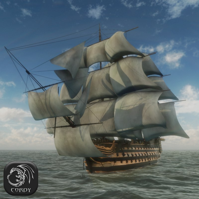3d model of advanced ship line