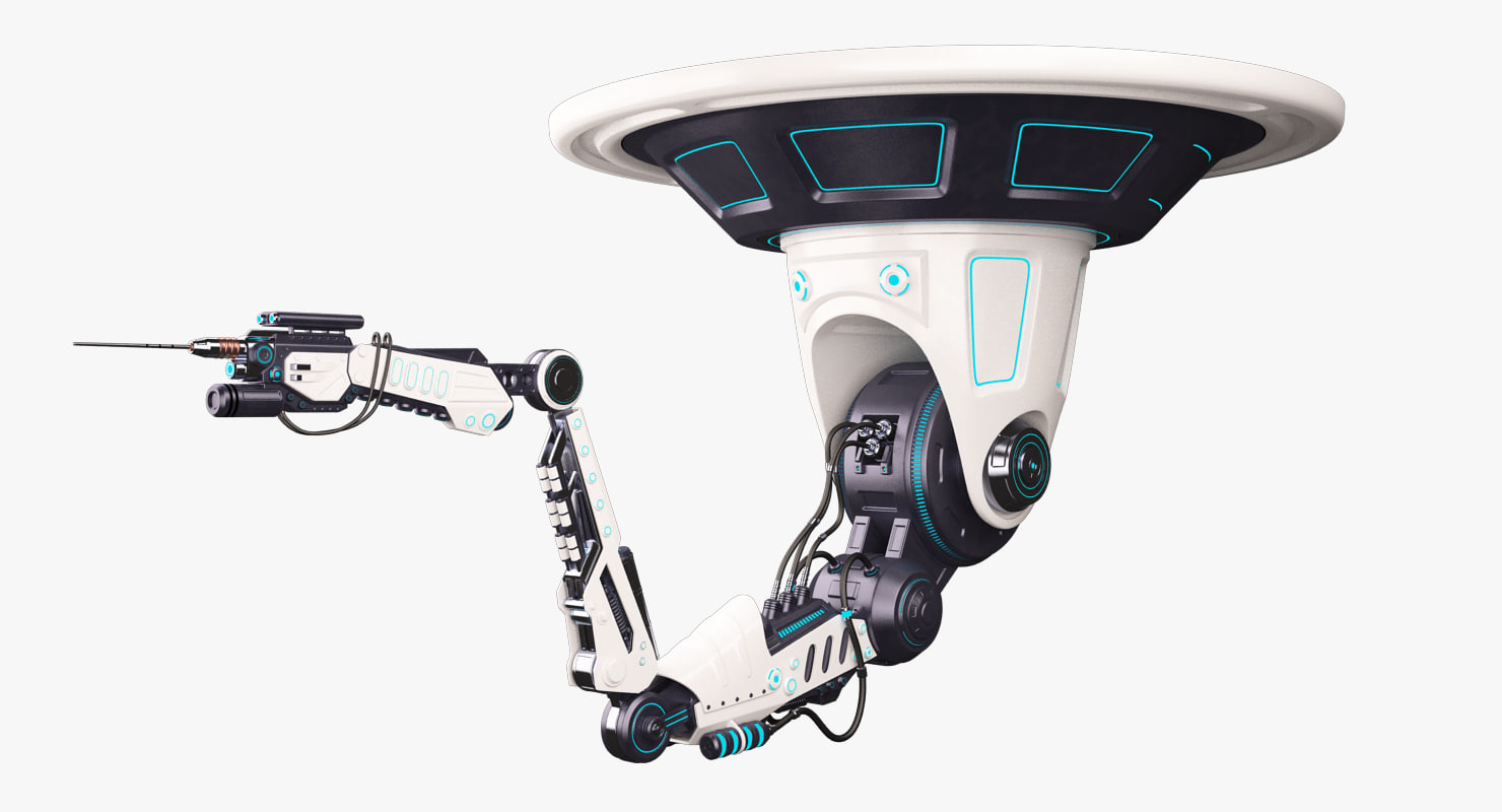 robotic arm 02 2 3d obj