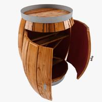 wine cabinet 3ds