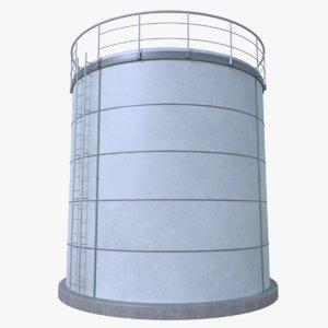 3d oil cistern model