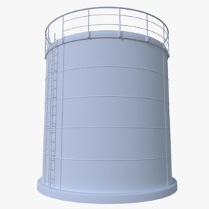 oil cistern 3d obj