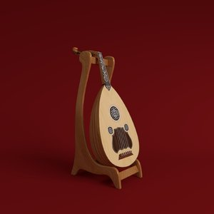 3d lute decorative