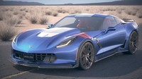 Chevrolet Corvette Grand Sport 2017 desert studio