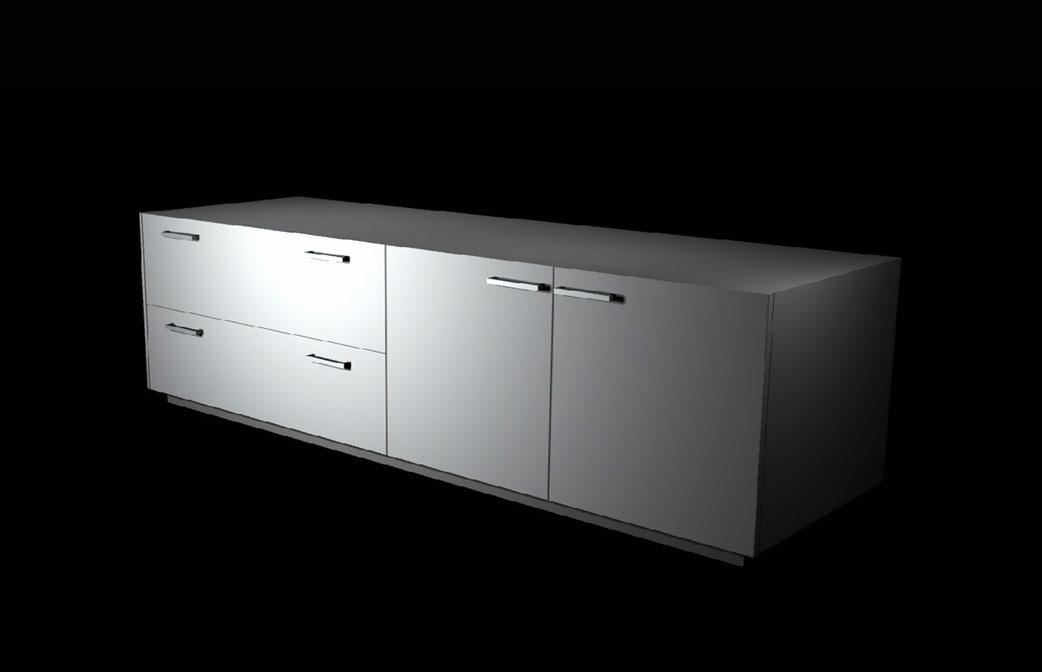 storage cabinet cupboards unit 3d model
