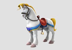 obj horse cartoon