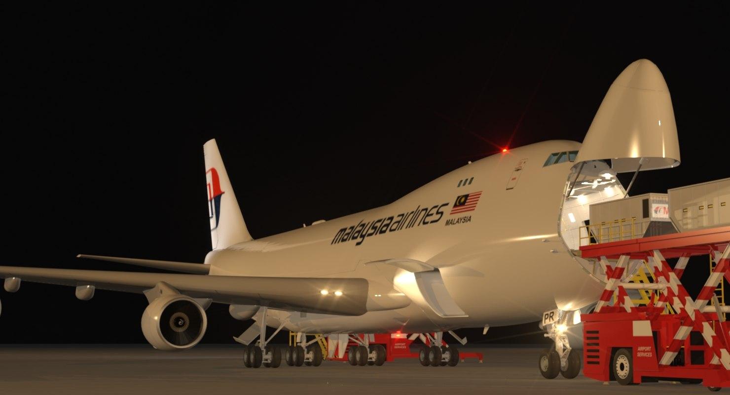 night scene loading operation 3d max