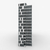 3d model city office building
