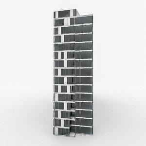 3d model city office building