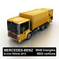 3d model of 2013 mercedes-benz econic refuser