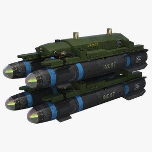 3d agm-114 hellfire missile model