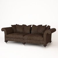 3d ralph lauren hiress sofa model