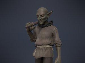 goblin character games 3d model