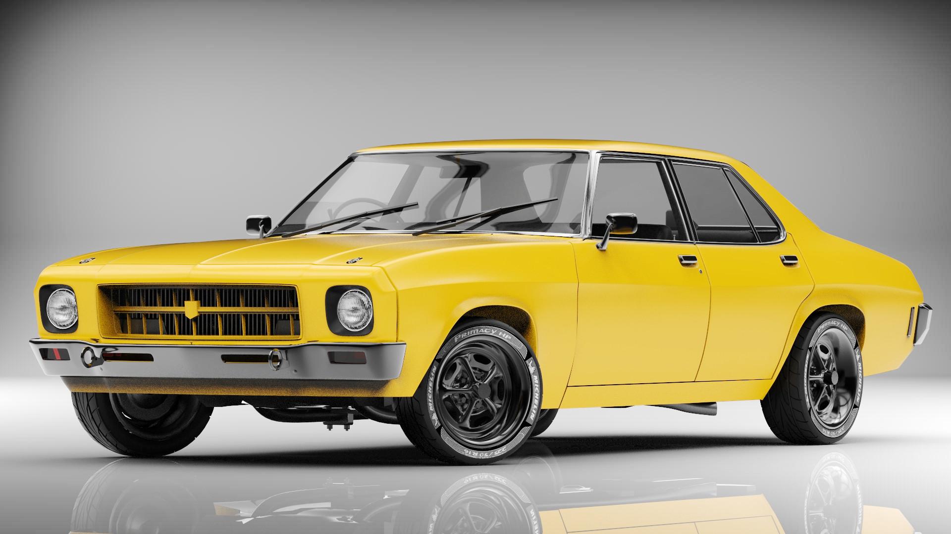 3d holden kingswood hq sedan model