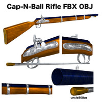 3d cap ball rifle model