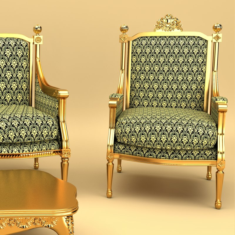 free chair luxury living 3d model