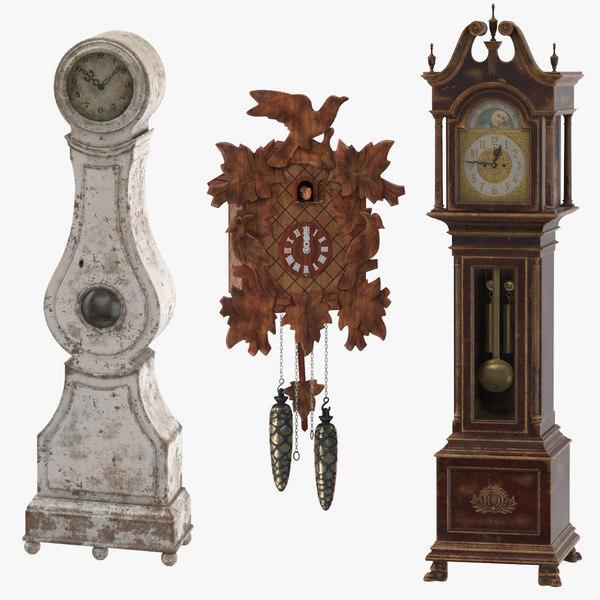 clocks 01 3d max